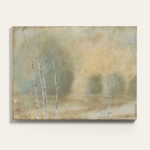 Elegant Antiquity Landscape Painting Canvas Print