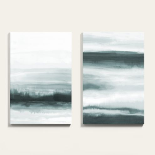 Misty Skies Abstract Painting Canvas Print