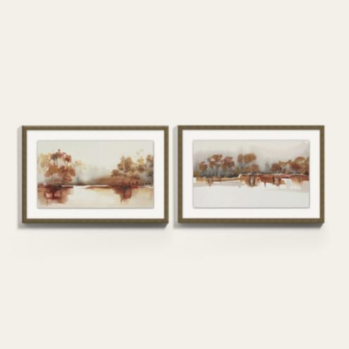 Autumn Lake Framed Art Prints Series