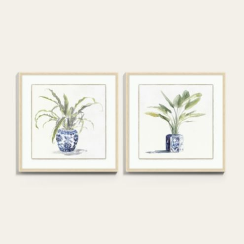 Chinoiserie Plant Framed Art Prints Series