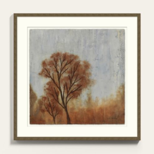Crisp Autumn Framed Abstract Art Prints Series