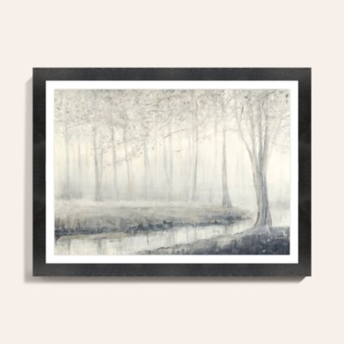 Foggy Woodland Art