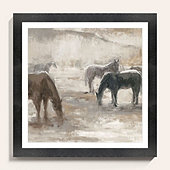 Grazing Horses Art
