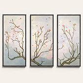 April Bloom Triptych Art