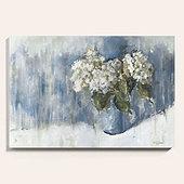 Hydrangea Study Art - Cornflower
