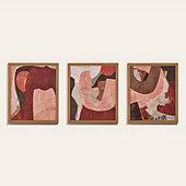 Terracotta Abstract Art
