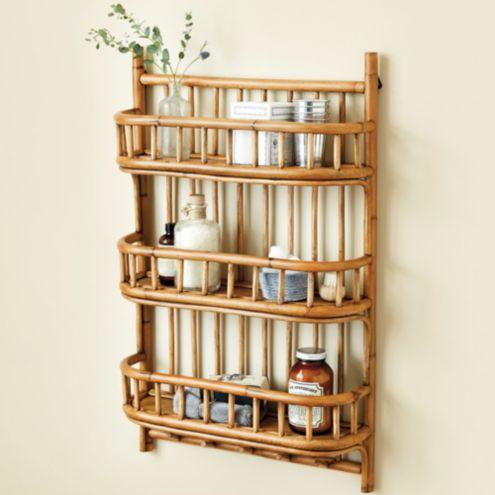 Lileth Rattan Shelf Ballard Designs