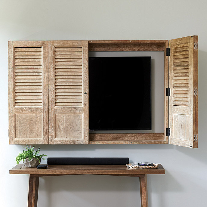 Shutter Tv Wall Cabinet Ballard Designs