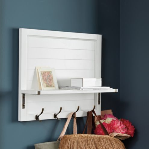 Shiplap Shelf with Hooks