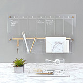 Acrylic Weekly Wall Calendar Bundle